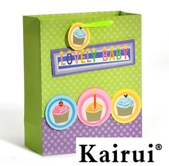 Lovely Cake Design Birthday Gift Bag For Baby Kr058 4