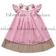 Lovely Owls Smocked Bishop Dress Dr 1532