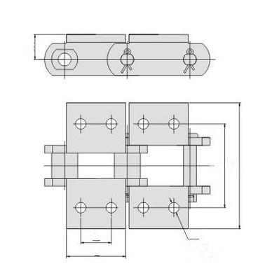 Low Price Engineering Steel Bushing Chain S102b S111 S150