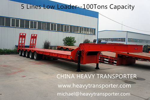Lowbed Lowboy Semi Trailer Low Loader Container Extendable Vehicle Modular