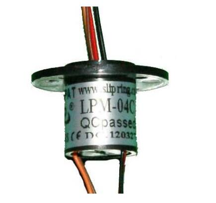 Lpm04 Smooth Running Miniature Capsule Electrical Slip Ring With 4 Circuits