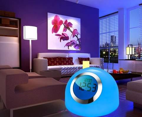 Ls 3309 Newer Color Changing Mood Light Alarm Set Natural Music