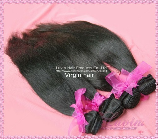 Luvin Hair Straight Brazilian Virgin Weft Free Shedding Tangle
