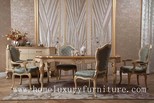 Luxury Antique Wooden Furniture Diningroom Sets Dining Table And Chairs Europe Style Ft105
