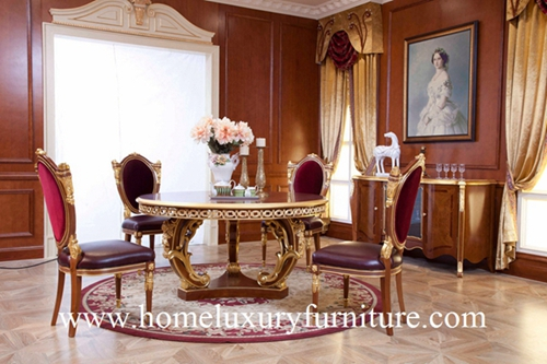 Luxury Classic Dining Table Chair Room Furniture Sets New Designe Italy Style Ft138