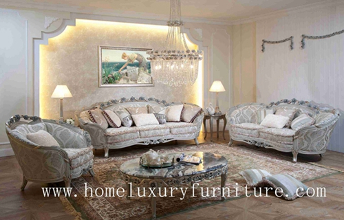 Luxury Classic Sofa 3 Piece Set Price Fabric Living Room Sets Ff103