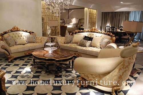 Luxury Living Room Furniture Sofa Sets Italy Style Antique Europe Royal Date