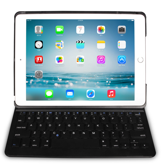 Magnetic Power On Off Bluetooth Keyboard With Case For Ipad Air 2