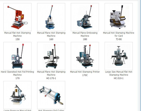 Manual Hot Stamping Machine Embossing