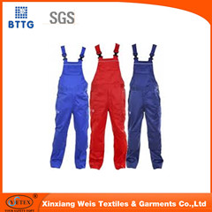 Manufacture Cotton Overalls Cargo Grey Bib Pants Dungarees Industrial Safety Workwear