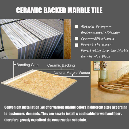 Marble Laminated With Ceramic