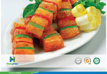 Marinated Pangasius Sweet Chili And Vegetable Skewer
