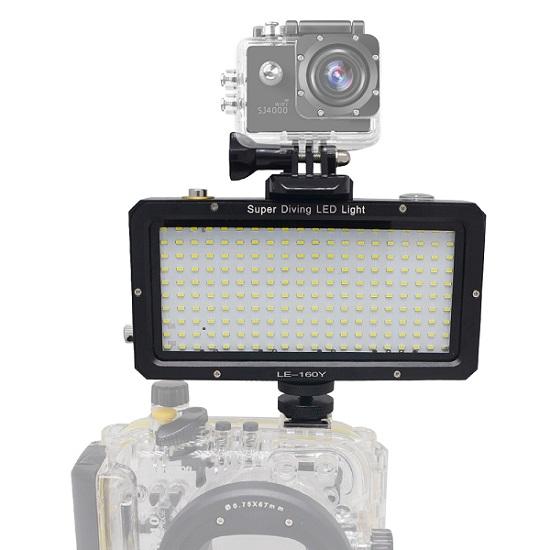 Mcoplus 40m 130ft Underwater Diving Video Led Light