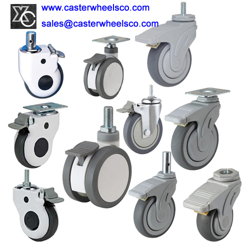 Medical Caster Wheels Hospital Furniture Casters Stretcher Trolley