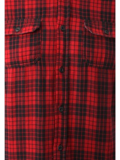 Men Casual Red Check Shirts