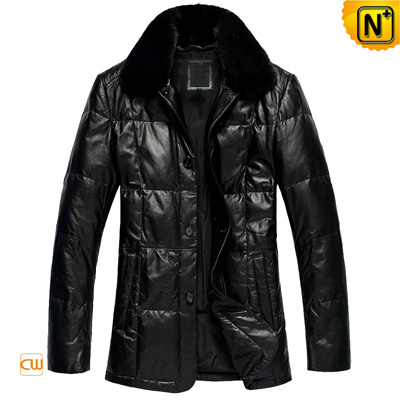 Men Leather Down Padded Winter Coats Cw866313