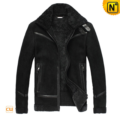 Men S Casual Real Fur Lined Leather Jacket