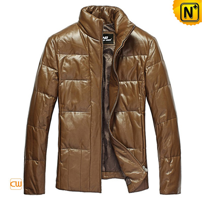Men S Casual Slim Sheepskin Leather Down Jacket