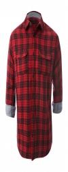 Mens Casual Red Check Shirts