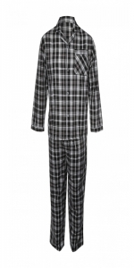 Mens Pajama Set Black Check