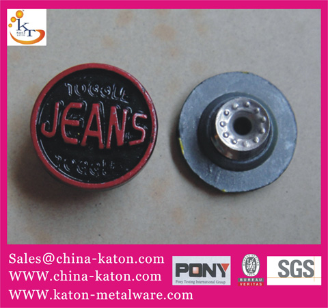 Metal Button Jeans Moving Brass For Garment Bags