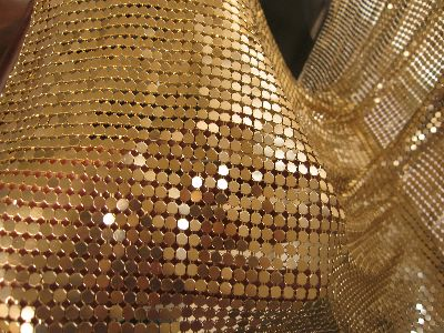 Metal Fabric In Size 4mm Gold Color