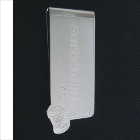 Metal Money Clip With Custom Design