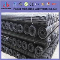 Metal Plastic Biaxial Geogrid