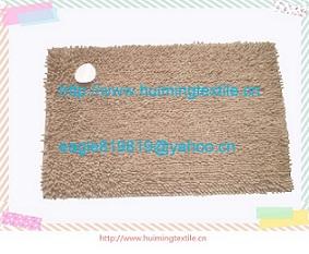 Microfiber Chenille Top Floor Carpets For Bathroom