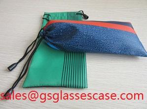 Microfiber Eyeglass Pouches Lens Bag With Artwork Printing