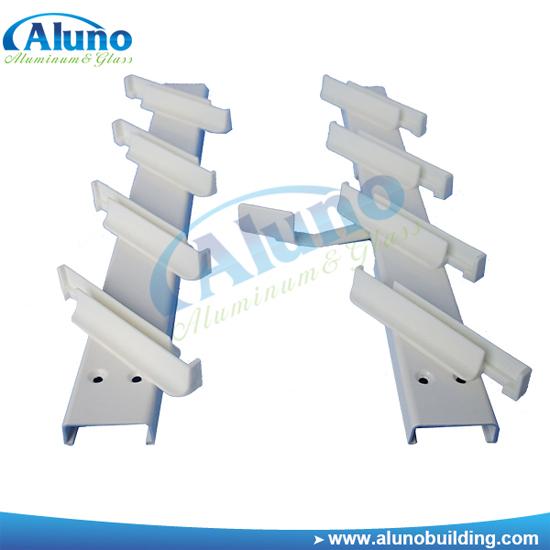 Milk White Aluminum Louvre Blade Frame