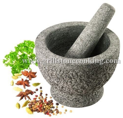 Mini Decorative Granite Kitchen Mixer Mortar With Pestle