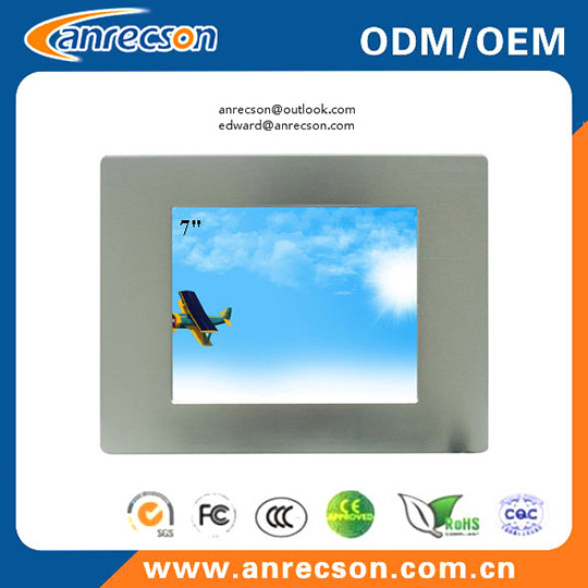 Mini Ip65 7 Inch Industrial Panel Mount Touch Screen Lcd Monitor