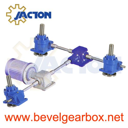 Mini Screw Jack Systems Synchronization Of Multiple Jacks Multi Lift Worm Gear