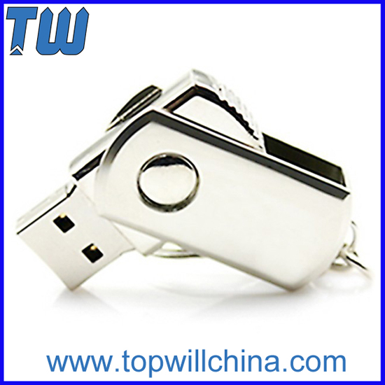 Mini Slim Swivel Metal Usb Flash Drives With Free Logo Printing