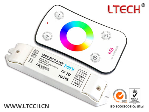 Mini Wireless Touch Rf Rgw Led Controller