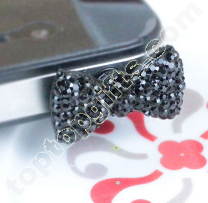 Mixed 3 5mm Resin Bowknot Iphone Dust Cover