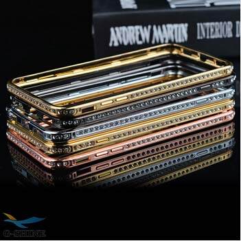Mobile Phone Case 4 Colors 5 Inch Diamond Edge Design Detachable For Iphone 6 Plus