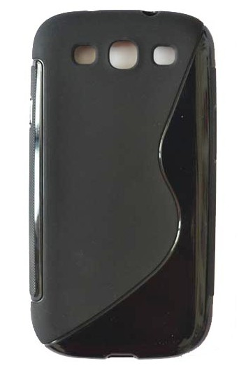 Mobile Phone Solid Black S Line Back Cover Case For Samsung Galaxy S3 I9300
