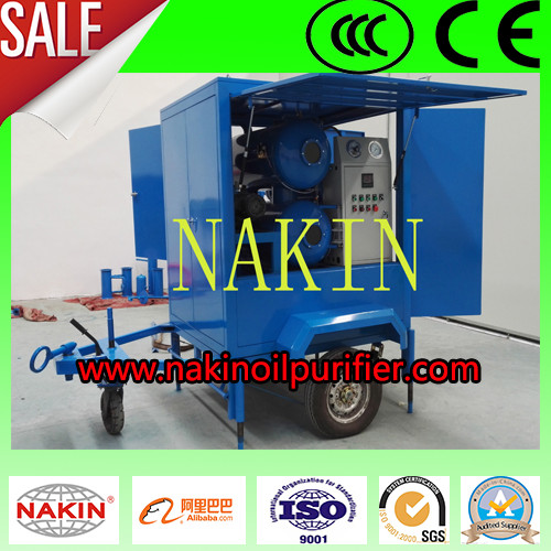 Mobile Vacuum Insulating Oil Purifier With Trailer