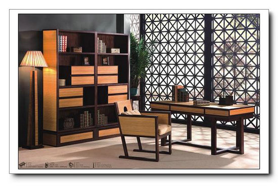 Modern Home Office Furniture Set Bamboo Wood