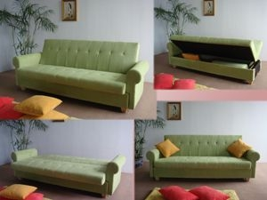 Modern Sofa With Leather Cover