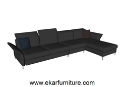 Modern Style Sofa Living Room Black Fabric Yx 282