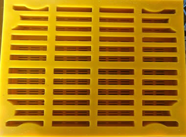 Modular Urethane Screen Mesh Steel Frame Embedded
