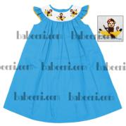 Monkey And Banana Smocked Bishop Dress Dr 1534