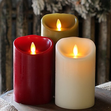 Multi Color Paraffin Wax Dancing Flame Wick Led Candle Quality Moving Products