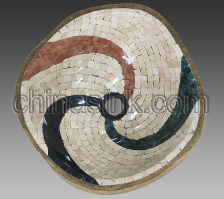 Natural Marble Mosaic Sink