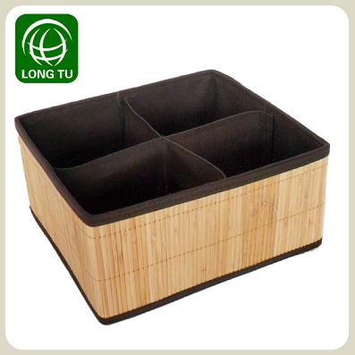 Nature And 4 Lattic Folding Bamboo Storage Box