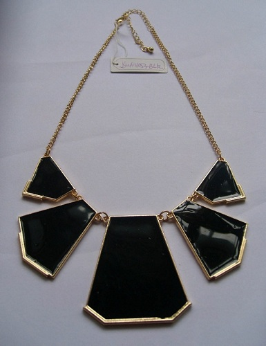 Necklace Jswn4053 Blk Epoxy Casting Plated With Imitation Gold Black