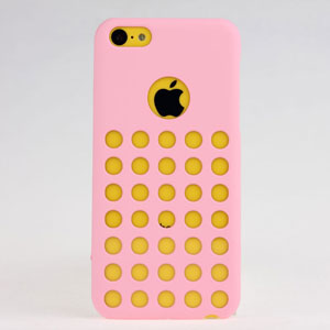 New Design Dot Holes Tpu Silicone Case Cover For Iphone 5c